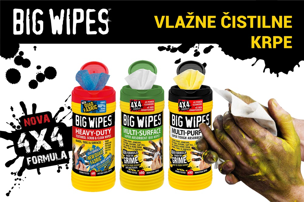 vlažne čistilne krpe za industrijo Big Wipes